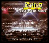 George Foreman's KO Boxing SNES Statistics are shown in between rounds.