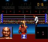 George Foreman's KO Boxing SNES The opponent is brought down to his knees.