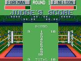George Foreman's KO Boxing SEGA Master System Points are awarded after each round.