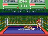 George Foreman's KO Boxing SEGA Master System George is down.