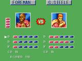 George Foreman's KO Boxing SEGA Master System Award skill points after each won match.