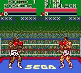 George Foreman's KO Boxing Game Gear The first match starts.