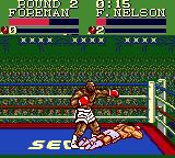 George Foreman's KO Boxing Game Gear George knocks down Nelson.
