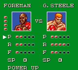 George Foreman's KO Boxing Game Gear Award skill points after each won match.