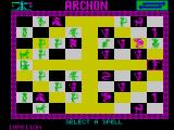 Archon: The Light and the Dark ZX Spectrum The wizard is casting a spell