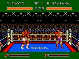 "James ""Buster"" Douglas Knockout Boxing SEGA Master System Start of the first match against Santana."
