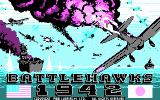 Battlehawks 1942 DOS Title screen (CGA)