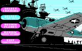 Battlehawks 1942 DOS Main menu (CGA)