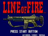 Line of Fire SEGA Master System Title screen