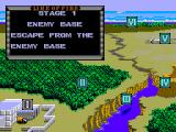 Line of Fire SEGA Master System Map screen with the level progress
