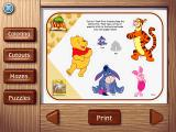 Playhouse Disney's The Book of Pooh: A Story Without a Tail Windows Activities available from the printables page include cut-out crafts...