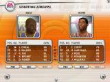 NBA Live 2003 Windows Selecting the starting lineups.