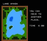 The Black Bass NES Layout of Lake Amada, can move your boat to the ideal position.