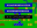 Waterloo ZX Spectrum Title screen