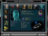 Galactic Civilizations II: Dread Lords Windows New Game - Choosing a civilization.
