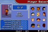 Backyard Hockey Game Boy Advance Selecting players to form your team.
