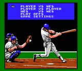 Bo Jackson Baseball NES Options screen