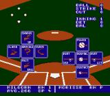 Bo Jackson Baseball NES The batting screen shows the all the five different hits you can do on the right side.  Just need to press the correct direction on the D-pad as the batter hits the ball. Default view in 2 player mode