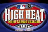 High Heat Major League Baseball 2002 Game Boy Advance Title screen