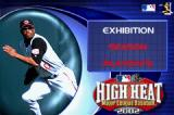 High Heat Major League Baseball 2002 Game Boy Advance Main menu