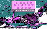 Their Finest Hour: The Battle of Britain DOS Title screen (CGA)