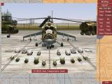 HIND: The Russian Combat Helicopter Simulation DOS Loading my Mi-24 with different missiles, bombs or gun pods.