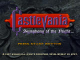 Castlevania: Symphony of the Night PlayStation Title screen