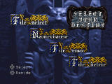 Castlevania: Symphony of the Night PlayStation Main menu
