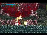 Castlevania: Symphony of the Night PlayStation Alucard wading through a mob of naked guys.