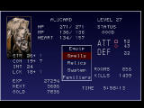 Castlevania: Symphony of the Night PlayStation Status screen