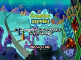 SpongeBob SquarePants: SuperSponge PlayStation Title screen