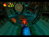 Crash Bandicoot 2: Cortex Strikes Back PlayStation Preparing to dive in water with eel.