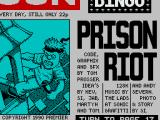 Prison Riot ZX Spectrum Loading screen, an obvious take-off of The Sun UK newspaper
