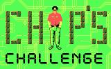 Chip's Challenge DOS Title screen (CGA)