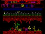Myth: History in the Making ZX Spectrum Surrounded by a group of nasty skeletons.