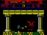 Myth: History in the Making ZX Spectrum Trying to defend before flying creature.