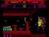 Myth: History in the Making ZX Spectrum Battle with the god Atum in the king's tomb.