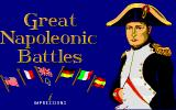 Great Napoleonic Battles DOS Title screen