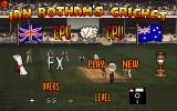 Ian Botham's Cricket DOS Main Menu