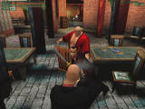 Hitman: Codename 47 Windows 47 confronts Lee Hong, the first of the boss-like Five Fathers. Lee Hong might have a sword, but 47's got an Uzi. Guess who wins?