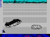 Turbo Cup ZX Spectrum The car upside down is a Porsche