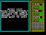 Chip's Challenge ZX Spectrum Opening story