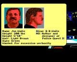 Police Quest 2: The Vengeance Amiga Jim Walls stats