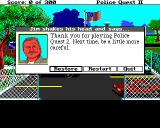 Police Quest 2: The Vengeance Amiga Restore,Restart,Quit Screen