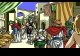 Revengers of Vengeance SEGA CD Some of the adventurerers arrive in town
