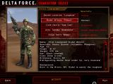 Delta Force: Land Warrior Windows Character select