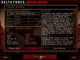 Delta Force: Land Warrior Windows Mission briefing and weapons of choice
