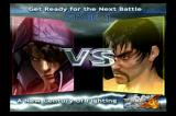 Tekken 4 PlayStation 2 Loading screen showing the upcoming match.