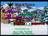 Val d'Isère Skiing and Snowboarding Jaguar Title Screen