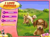 I Love Puppies! Windows Main menu.